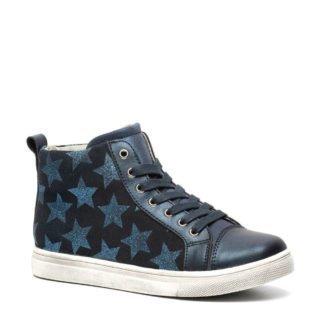 TwoDay leren sneakers met sterren donkerblauw (meisjes) (blauw)