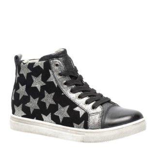 TwoDay leren sneakers met sterren zwart (meisjes) (zwart)