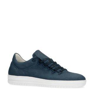 Manfield leren sneakers blauw (heren) (blauw)
