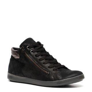 Hush Puppies leren sneakers zwart (dames) (zwart)