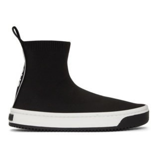Marc Jacobs Black Solid Logo Dart Sock Sneakers