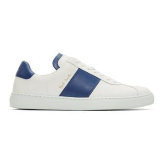 Paul Smith White and Blue Levon Sneakers