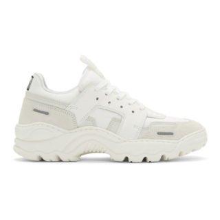 AMI Alexandre Mattiussi White Running Lucky 9 Sneakers