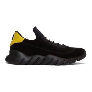 Fendi Black Suede Sporty Sneakers
