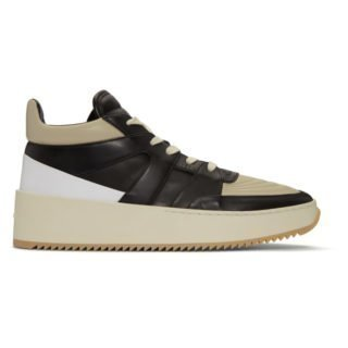 Fear of God Grey and Black Basketball Mid-Top Sneakers