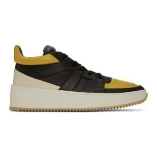 Fear of God Yellow and Black Basketball Mid-Top Sneakers