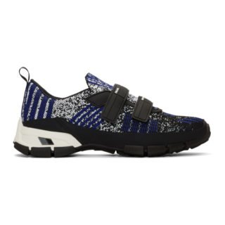 Prada Black and Indigo Crossection Sneakers