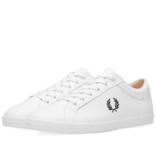 Fred Perry Baseline Leather Sneaker (White)