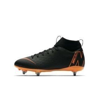 Nike Jr. Mercurial Superfly VI Academy SG-PRO Voetbalschoen voor kleuters/kids (zachte ondergrond) - Zwart Zwart