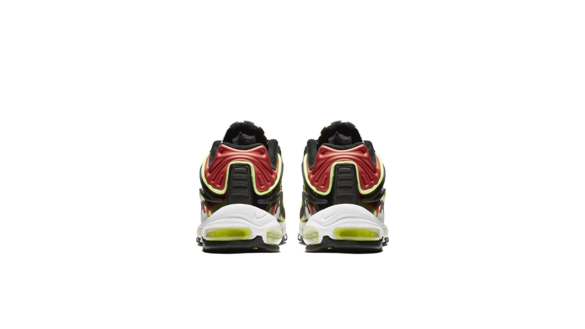 NIKE AIR MAX DELUXE BLACK/VOLT-HABANERO RED-WHITE (AJ7831-003)