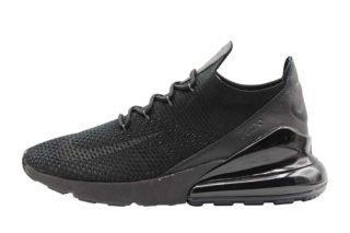 Nike Air Max 270 Flyknit (zwart/antraciet/groen/d rood/print)