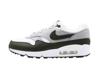 Nike Air Max 90/1 (wit/creme/zwart/rood)
