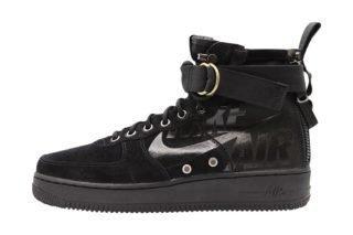 Nike SF Air Force 1 Mid (zwart/grijs/groen/grijs)