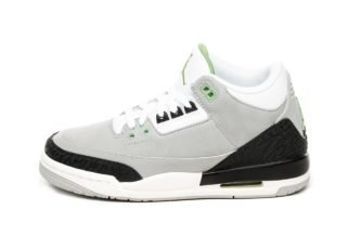 Nike Air Jordan 3 Retro (GS) *Chlorophyll* (Light Smoke Grey / Chlorop