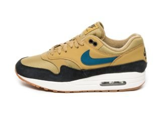 Nike Air Max 1 (Golden Moss / Blue Force - Black - Sail)