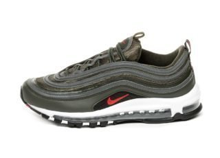 Nike Air Max 97 (Sequoia / University Red - Metallic Dark Grey)