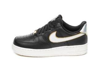 Nike Wmns Air Force 1 '07 MTLC (Black / Metallic Platinum - Summit Wh