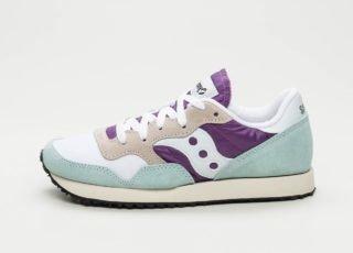 Saucony DXN Trainer Vintage (White / Purple / Light Blue)