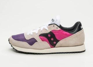 Saucony DXN Trainer Vintage (White / Pink / Purple)