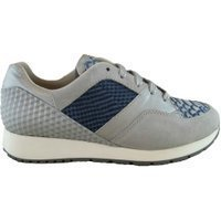 Gino-B Sneaker natura blue combi grijs