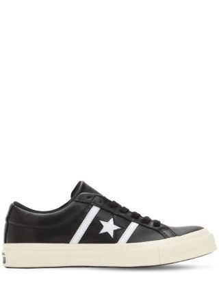 One Star Academy Leather Sneakers (zwart/wit)