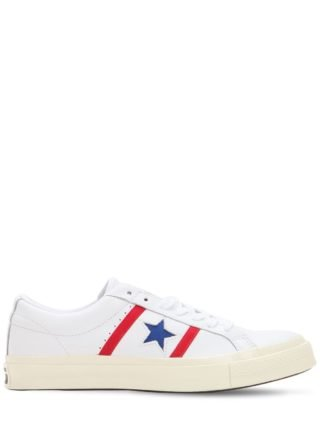 One Star Academy Leather Sneakers (wit/blauw)