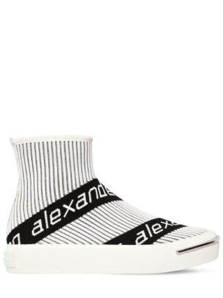 20mm Pia Logo Knit Sock Sneakers (wit)