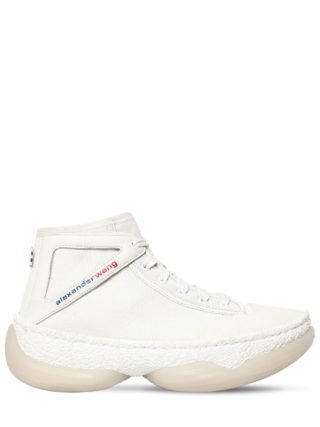 40mm A1 Leather & Mesh Sneakers (wit)