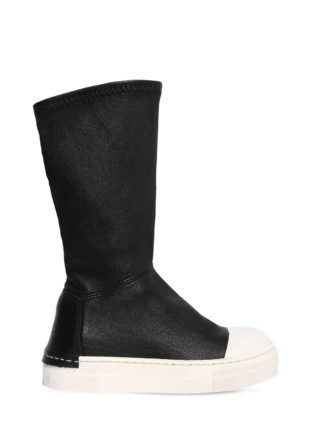 Neoprene & Leather Boots (zwart)