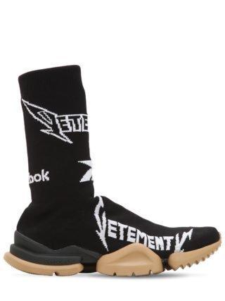 Reebok Metal Jacquard Socks Sneakers (zwart/wit)