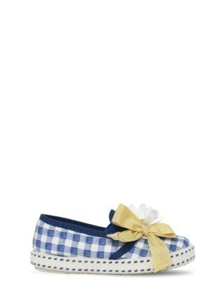 Daisies Gingham Print Slip-on Sneakers (wit/blauw)