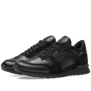 Valentino Noir Rockrunner Sneaker (Black)