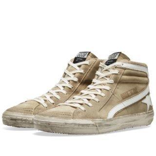 Golden Goose Deluxe Brand Slide High Nubuck Sneaker (Brown)