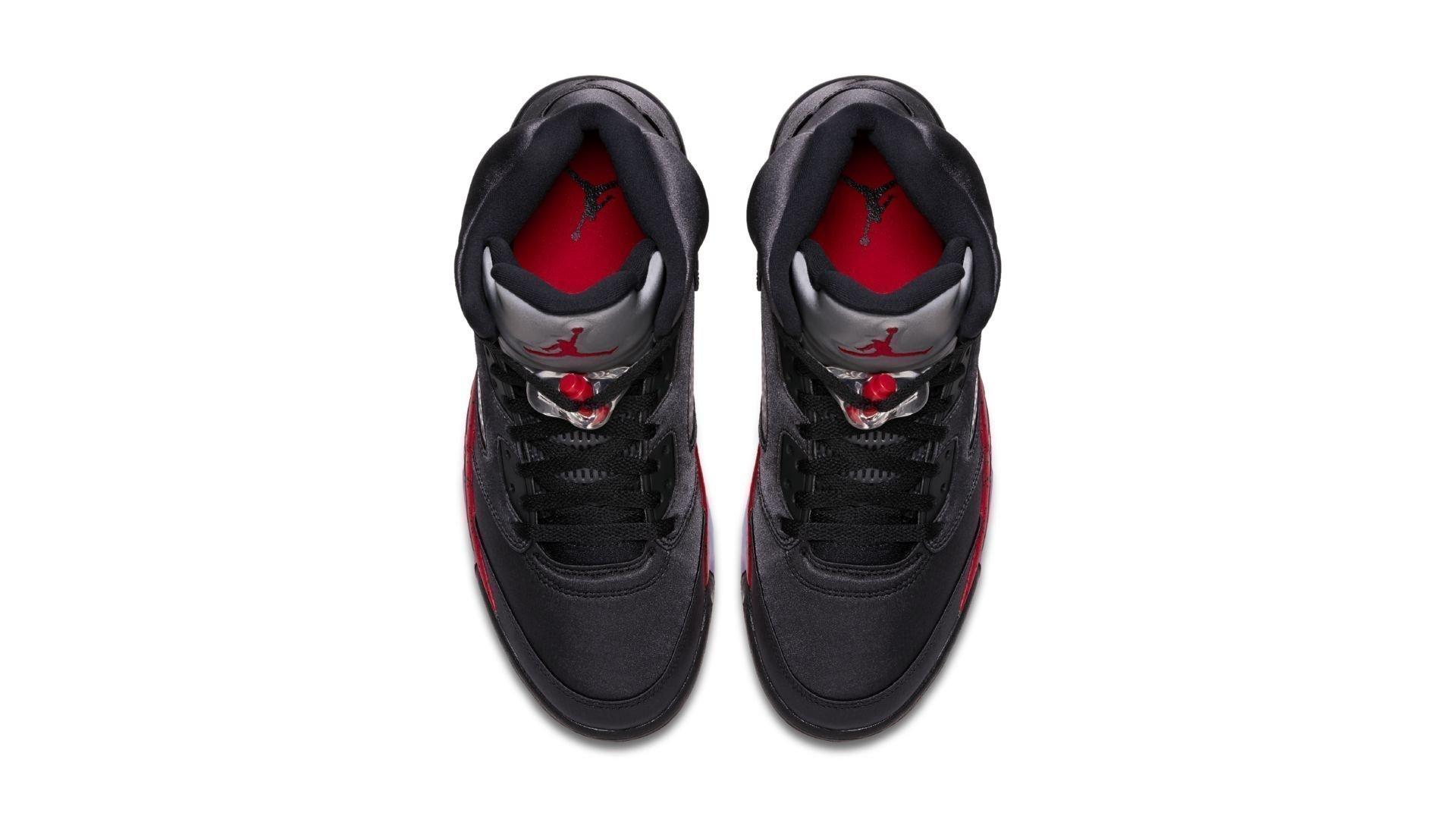 Air Jordan 5 Satin 'Black & Red' (136027-006)