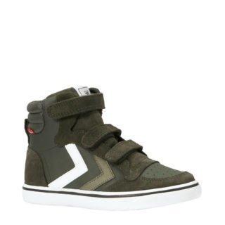 hummel Stadil leren sneakers jongens (groen)