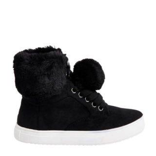 River Island sneakers met imitatiebont (zwart)