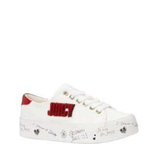 Juicy Couture Zurina sneakers wit/rood (dames) (wit)