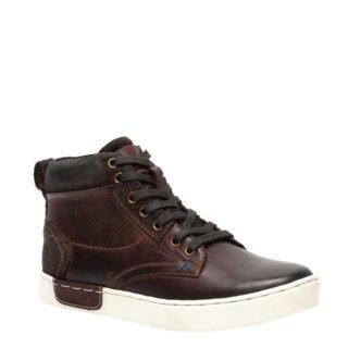 TwoDay leren sneakers donkerbruin (bruin)