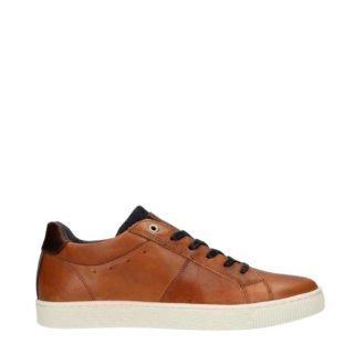 Sacha leren sneakers cognac (bruin)