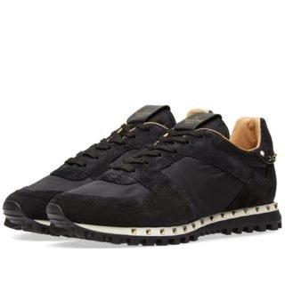 Valentino Camo Stud Sole Rockrunner Sneaker (Black)