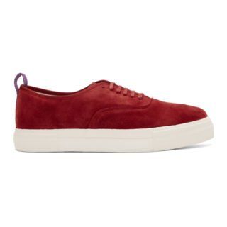 Eytys Red Suede Mother Sneakers