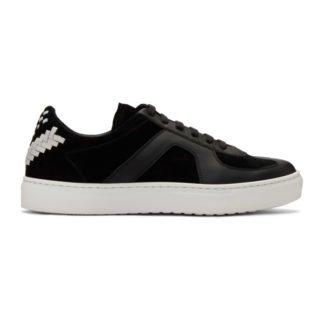 Bottega Veneta Black Calf and Suede Sneakers