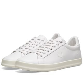 Fred Perry B721 Vulcanised Leather Sneaker (White)