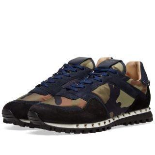 Valentino Stud Sole Rockrunner Sneaker (Blue)