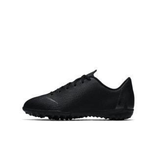 Nike Jr. MercurialX Vapor XII Academy Voetbalschoen voor kleuters/kids (turf) - Zwart Zwart