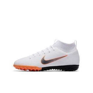 Nike Jr. MercurialX Superfly VI Academy Just Do It Voetbalschoen voor kleuters/kids (turf) - Wit Wit