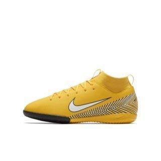 Nike Jr. Mercurial Superfly VI Academy Neymar Jr. Zaalvoetbalschoen voor kleuters/kids - Geel Geel