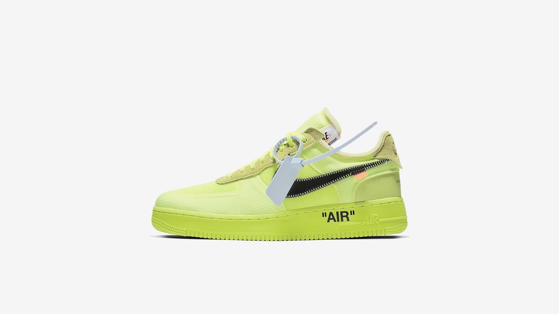 Off White X Nike Air Force 1 Low 'Volt' (AO4606 700)
