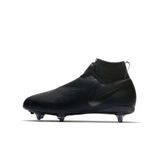 Nike Jr. Phantom Vision Academy Dynamic Fit Voetbalschoen voor kleuters/kids (zachte ondergrond) - Zwart Zwart