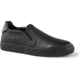 Philipp Plein Slip On Graphic sneaker van kalfsleer met crocostructuur